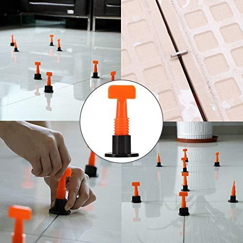 JCMY DIY-Werkzeuge 50PCS Mini Ebene Wedges Ausrichtung Tile Spacer for Boden Wand Tile Carrelage Leveling-System Leveler Locator Verbreiterungen Plier Für Dekoration