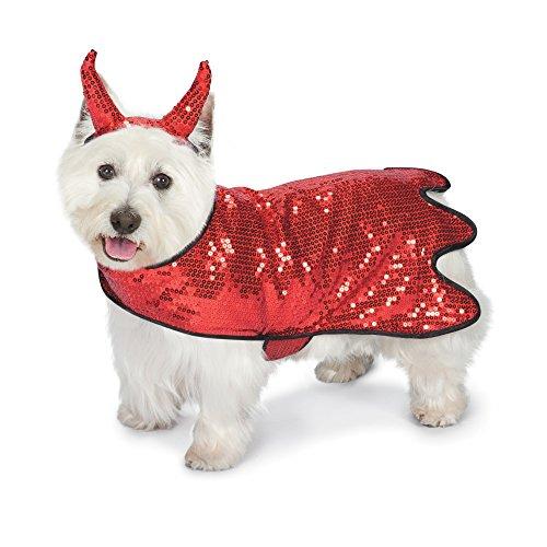 Zack & Zoey Pailletten Duivel Hond Kostuum