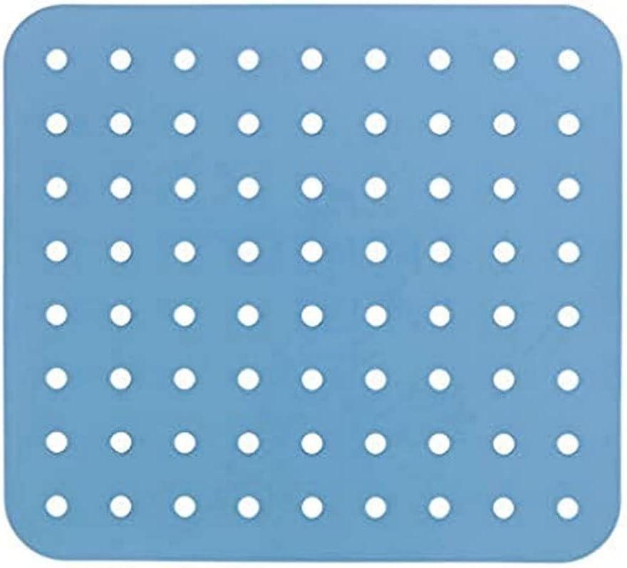 Wenko Alfombrilla para Fregadero (Cristal Rectangular, extrafuerte), Color Azul, 1 x 31 x 27.5 cm