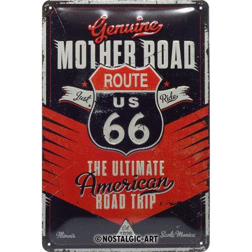 Nostalgic-Art Retro Blechschild - Route 66 The Ultimate Road Trip, Vintage Geschenk-Idee für Route 66 Fans, zur Dekoration, 20 x 30 cm