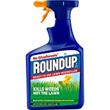 Roundup Ready to Use Lawn Weedkiller, Glyphosate Free, 1 Litre Spray, Blue