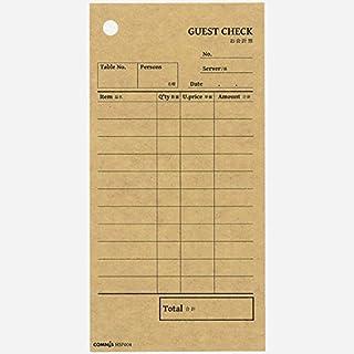 お会計票 (会計伝票) ダーククラフト ボールド HSP004 600枚