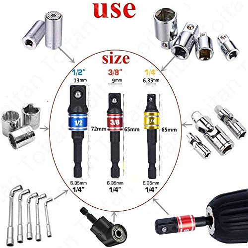 105 Degree Right Angle Drill, Drive Drill Bit Set,Impact Socket Adapter Extension,Impact Wrench,Nut Driver Bit,Socket Adapter,Socket Drivers For Drill,1/4