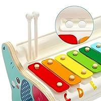 TOP BRIGHT Xilofono in Legno per Bambini – Strumento Musicale Giocattolo per Bambini di 1 Anno con 3 Spartiti – Tasti Colorati, Gioco educativo #3