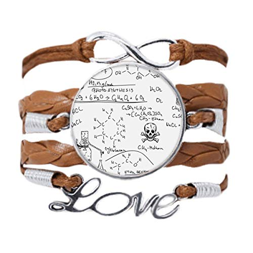DIYthinker Calculus Organic Chemistry Experiment Bracelet Love Chain Rope Ornament Wristband Gift