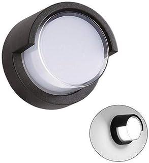 ZKS-KS Creative Waterproof Wall Lamp Led Outdoor Wall Light Circular Design Aluminum Alloy Home Decoration Lamp,Warm White...