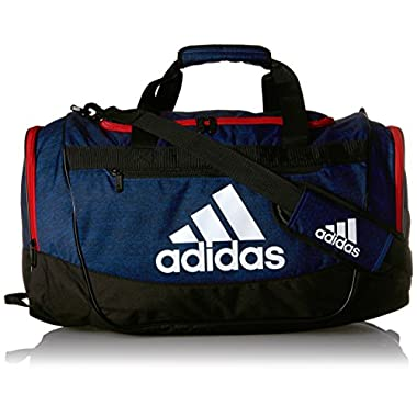 adidas Defender III Duffel Bag, Collegiate Royal Blue Jersey/Scarlet/Black/White, Medium