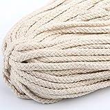 Cuerda trenzada hecha a mano DIY decoración colorida 5 mm 100 m cuerda álbumes de recortes manualidades macramé colgante artesano accesorios duraderos, As Picture Show, 1