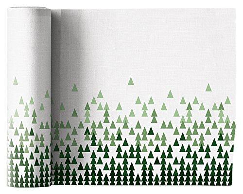 Serviette de table noël en lin 20x20cm - Idéale pour fête - Rouleau de 12 serviettes - motifs/imprimés Arbre de noël