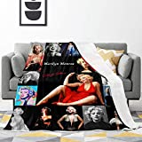 Guabenta Ultra-Soft Fleece Blanket, Smooth Home Decor Throws Air Conditioning Plush Bed Blanket 60x50 for Sofa,Couch,Camping