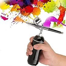 Yosoo Mini Airbrush Air Compressor Kit, 0.3mm Multi-Purpose Set 7CC Air Compressor Gun Nail Art Body Painting Tool for Paint Art Tattoo Nail Design