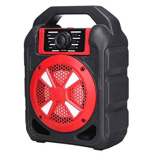 Musiccast Glatte Klangkultur Freihändige Kopfhörer mit Mic Unterstützung FM TF USB-AUX Tragbarer 9W Bluetooth drahtlose Lautsprecher-buntes Licht Hifi Stereo Außen ( Größe : With Wireless Mic )