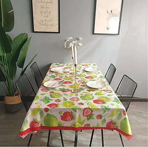 Nappe de Fruits Table à Manger Couverture cheminée comptoir Nappe étanche 140X220Cm
