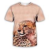 3D Camisetas Para Hombre,Camiseta Con Estampado De Leopardo Animal Para Hombre, Moda De Verano, Camisetas De Manga Corta Con Cuello Redondo En 3D, Ropa De Calle Hip Hop De Manga Corta Para H
