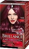 Schwarzkopf Brillance Intensiv-Color-Crème, 705 Dunkler Rubin Stufe 3, 3er Pack (3 x 143 ml)