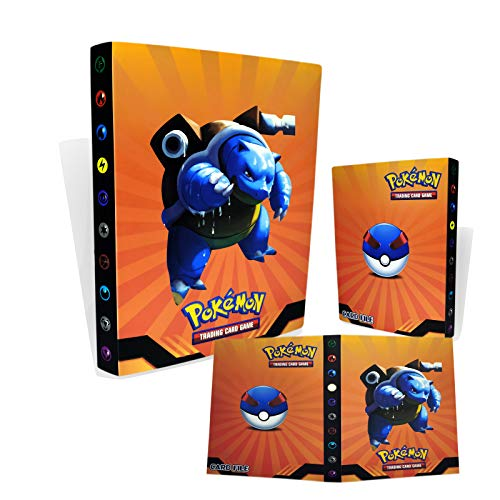 TUXUNQING Tarjetero Pokémon, Álbum de Cartas Coleccionables Pokémon, Álbum de Entrenador de Cartas Pokémon GX EX. El álbum Tiene 30 páginas y Puede Contener 240 Tarjetas. (Water Arrow Turtle)