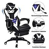 YU YUSING Massage Racing Gaming Stuhl Bürostuhl - Ergonomisches Sportsitz