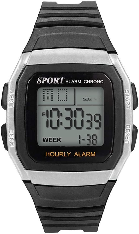 Willtoo (ウィルトゥー) 腕時計販売/クリアランス。 メンズデジタルスポーツウォッチ 防水 タクティカルウォッチ LEDバックライト付き メンズ free size シルバー