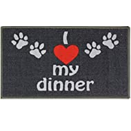 JVL Pet animal novelty machine washable 40 x 70cm feeding mat - Dinner