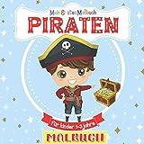 Mein Erstes Malbuch Piraten Für Kinder 1-3 Jahre: Tolles Geschenk für Mädchen und Jungen, Kleinkinder, Kinder im Vorschulalter. Kritzelmalbuch für Kinder 2-4 Jahren