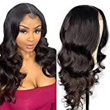 West Kiss 6x6' Lace Closure Wig Body Wave Deep Parting Middle Brown Lace Closure Wigs 100% Human Hair Pre Plucked With Baby Hair Natural Color Wigs (16 inches)
