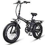 XXCY Bicicleta Eléctrica, Bicicleta Eléctrica Urbana Plegable, Velocidad Máxima 40 km/h, Peso Ligero de 20 Pulgadas, Batería de Litio de Carga Extraíble de 500 W / 48 V / 16ah (500W 16AH LG)