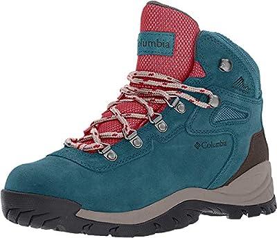 Columbia Women's Newton Ridge Plus Hiking Boot, Aegean Blue/Cherrybomb, 9 Regular US