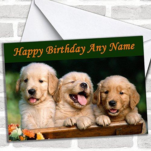 Labrador Puppy Dogs Verjaardagskaart met envelop, kan volledig gepersonaliseerd worden, snel en gratis verzonden