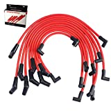 JDMSPEED New Red 10.5mm Racing Spark Plug Wires Set Replacement For Ford 5.0L 5.8L, SB SBF 302