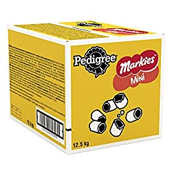 Chewy and tasty outer and a delicious mouth-watering, meat-flavoured centre, that's Pedigree Markies, made for training and rewarding your canine friend Packed with dog-friendly ingredients and a great taste, Markies are a good reward for on the go a...
