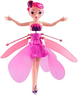 Kids Toys Flying Fairy Doll Induction Control RC Aircraft Kids Toys Ballet Girl Flying Princess Toy
