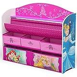Delta Children Deluxe Book & Toy Organizer, Disney Princess
