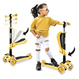 Hurtle 3-Wheeled Scooter for Kids, Yellow