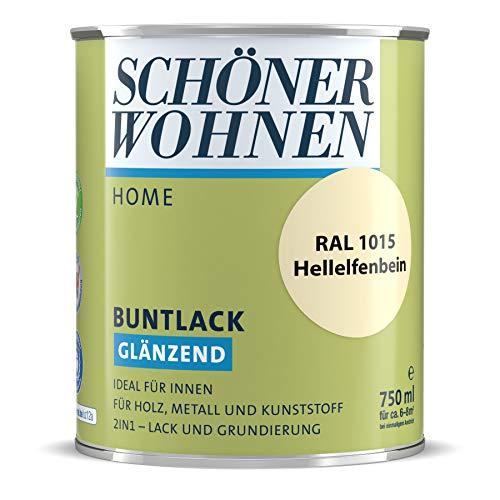 Schöner Wohnen Profidur DurAcryl Hellelfenbein RAL 1015/750 ml/glänzend/aromatenfrei/für außen u. innen/für Holz, Metall u. Kunststoff