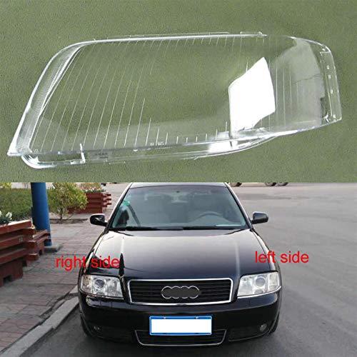 N\A Scheinwerferglas, Transparente Lampenschirme Lampenschale Masken Objektiv for A6 C5 2003 2004 2005 Vordere Scheinwerfer Glasscheinwerfer Shell Cover (Farbe : 1PCS Left Side)