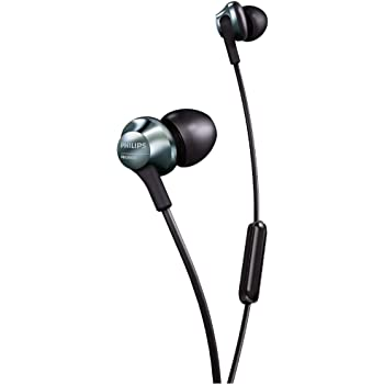 Philips Audio PRO6105 Wired Earbuds, Headphone with Mic, Hi-Res Audio, Lightweight, Comfortable Fit - Black (PRO6105BK/00)