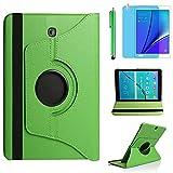 Funda para Samsung Galaxy Tab A 8.0 2015 Casos Modelo SM-T350 SM-T351 SM-T355,360 Rotación Soporte Protección Cubrir,Tener bolígrafo,Película (Green)