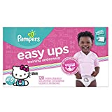 Pampers Easy Ups Training Pants Pull On Disposable Diapers for Girls Size 6 (4T-5T), 120 Count, ONE...