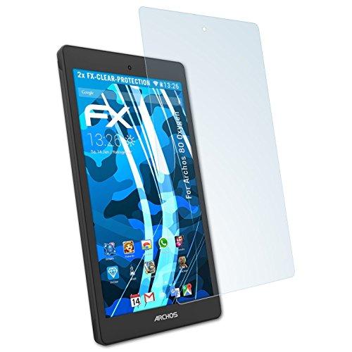 atFolix Schutzfolie kompatibel mit Archos 80 Oxygen Folie, ultraklare FX Bildschirmschutzfolie (2X)