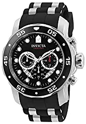 "Invicta Men's 6977 ""Pro Diver Collection"" Stainless Steel and Black Polyurethane Watch"
