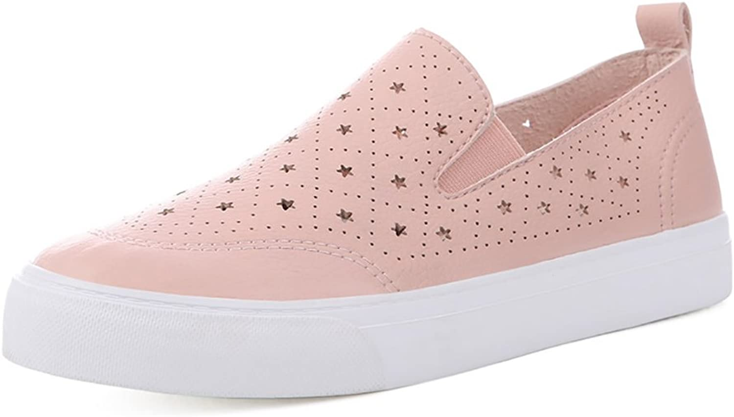 Women Summer Breathable Loafers Fashion Casual shoes ( color   Pink , Size   39 )