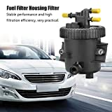 Caja del filtro de combustible con filtro para Berlingo Xsara Picasso Peu-geot Bomba de agua de refrigeración 206 306 307 2,0 HDi