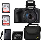Canon Powershot SX420 Point & Shoot Digital Camera Black + 2 Sandisk Ulrta 32GB Class 10 Memory cards + Premium Camera Case, Classic Bundle
