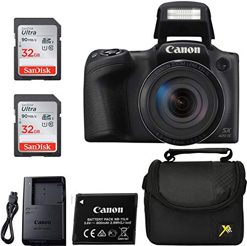 Canon Powershot SX420 Point & Shoot Digital Camera Black Classic Bundle