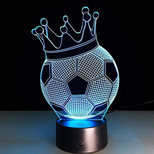 Lámpara Para Dormir 3D Lámpara De Escritorio Lámpara Fantasma Creativa Luz De Noche Led Fútbol Imperio Diseño De Corona Novedad Lámpara De Atmósfera Acrílica Para Niños Regalos Encantadores