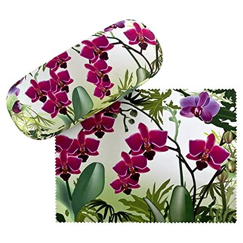 VON LILIENFELD Estuche Gafas Flor Orquídeas Funda Ligeramente Estable Colorido Regalo Mujer