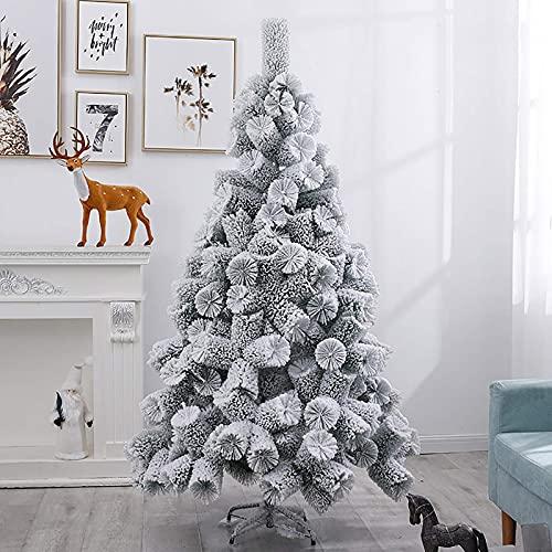 Sapin de Noël artificiel floqué de neige de qualité supérieure, facile à assembler, blanc, 210 cm