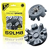 SOLM8- TPU Soft Spikes for Cricket Shoes, Golf Cleats Spikes Replacement Easy to Install, Screw Size ¼ Inch Metal Threading (Pack of 23 + 1 Spanner)