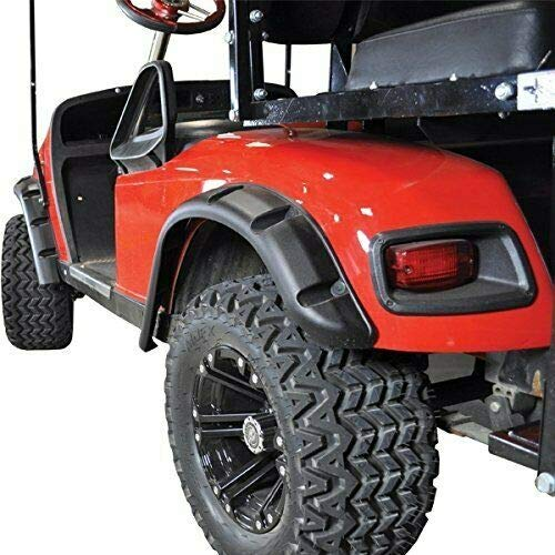 E Z Go GOLF CART PART TXT Golf Cart FENDER FLARES set of 4 1996-Up Gas/Electric