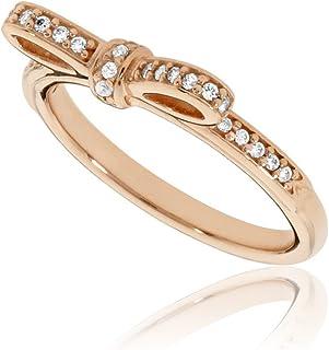 22f98fbcb Pandora Women's Sparkling Bow Ring, Rose, Size 52 Jewelry 180906CZ-52